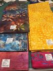 Batik Fabric 5 Yard Pieces Merrivale Fabrics Red Yellow Blue Purple Green