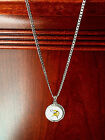 STERLING SILVER PENDANT W  HAND PAINTED NFL MINNESOTA VIKINGS SETTING - JEWELRY
