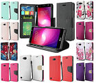 For LG X Power 2 Fiesta Premium Wallet Credit Card Flip Pouch Cover Case