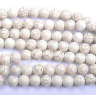 Wholesale 5-100Pcs Round Loose White Turquoise Charm Spacer DIY Beads Jewelry