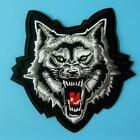Wolf Tiger Lion Patch Iron on Sew Embroidered Motif Applique Badge Biker Motor