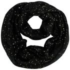 SEQUIN SPECKED KNIT INFINITY SCARF