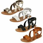Leather Collection Ladies Strappy Summer Sandals