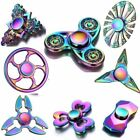 Tri Fidget Hand Spinner Metal Rainbow Finger EDC Desk Toy Gyro Focus ADHD Autism