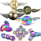 Harry Potter Golden Snitch Fidget Finger Spinner Metal Rainbow Hand Focus Toy UK