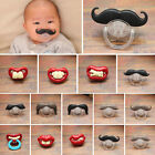 Pacifier Baby Boy Girl Orthodontic Funny Kids Mustache Nipples Dummy Teeth