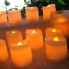 24/48/72/96X Flameless Votive Candles Battery Operated Flickering LED Tealights