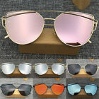 UV400 Women's Fashion Glasses Metal Flat Lens Vintage Not Polarized Sunglasses