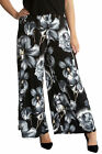 New Ladies Plus Size Trousers Womens Floral Print Palazzo Pant Wide Leg Nouvelle