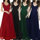 Women Long Lace Sleeveless Bridesmaid Dresses Formal Prom Evening Party Gowns &8