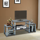 Entertainment Center Media Console Furniture TV Stand Storage Wood Cabinet Home