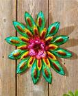 INDOOR OUTDOOR METALLIC LAYERED GARDEN FLOWER WALL HANGING DECOR-3 DESIGNS