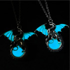 New Luminous Blue Purple Light Glow In The Dark Dragon Pendant Necklace Jewelry