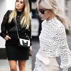 Women's Casual Lace Blouse Ladies Long Sleeve Shirt Loose Tops T-Shirt Pullovers