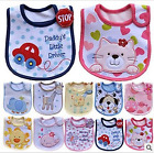 Baby Boy Girl 3Layer Cloth Bibs Waterproof Saliva Towel Cartoon Bib Feeding Care