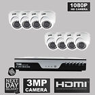 TMB 8 Channel DVR 1080P HD 3MP Outdoor IR Home Security CCTV Camera Systems DIY