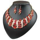 Fashion Crystal Pendant Bib Choker Chain Statement Necklace Earrings Jewelry Set <br/> Many Styles Of Necklace For You Buy 1 Get 1 at 5% off