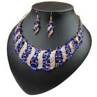 Fashion Crystal Pendant Bib Choker Chain Statement Necklace Earrings Jewelry Set <br/> 7000+ Sales,Various Styles,EXTRA 10% OFF $15+