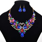 Fashion Crystal Pendant Bib Choker Chain Statement Necklace Earrings Jewelry Set <br/> Many Styles Of Necklace For You Buy 1 Get 1 at 8% off
