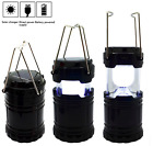 LED Solar Light Hiking Camping Lantern Rechargeable Lamp AC110-250V Tent Lights