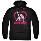 Betty Boop Scrolling Hearts Pullover Hoodies for Men or Kids $31.56 USD