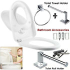 Heavy Duty Oval D Shape Soft Close Child Friendly Toilet Seat Towel Roll Holder