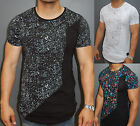 A.F.E.X D.G N&R STAR Neat Paint Splash Multicolor Stains Slim Fit Fitted T-Shirt