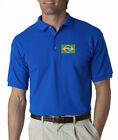 Brazil Flag Mens Embroidered Polo Shirt S-6XL, LT-4XLT Sao Paolo Rio Brasil New