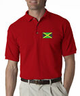 Jamaica Flag Mens Embroidered Polo Shirt S-6XL, LT-4XLT New