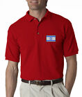 Flag of Israel Mens Embroidered Polo Shirt S-6XL, LT-4XLT Jerusalem New