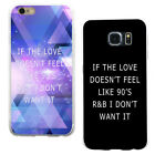 90's R&B Love Letter Print Phone Case Cover for iPhone 6 7Plus Samsung S7 Sweet