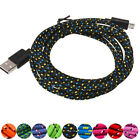 3m/10ft Braided Nylon Micro USB Data Sync Charging Cable Cord for Samsung  Sweet