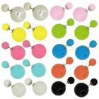 Wholesale Lot of Fashion Jewelry Double Side Candy Color Stud Ball Earrings Set
