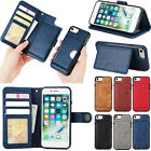 2in1 Leather Removable Magnetic Holder Wallet Card Stand Case Cover For Phones