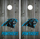 Carolina Panthers Distressed Wood (Grey) Cornhole Board Wraps Decals Graphics on eBay