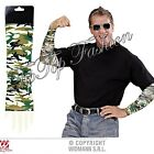 CAMOUFLAGE TATTOO SLEEVES PAIR SFX FOR ARMY SOLDIER SUPERHERO COSTUME ASSCESSORY