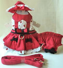 ONE LEFT Dog Harness Dress, Hat, Leash, Panty - DAISY BUG - XSMALL