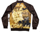 STAR WARS - BOMBER JACKET- Men's (L-XL-XXL) NEW Collectible LARGE BACK GRAPHIC - $56.7 USD
