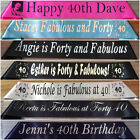 40th Birthday - Personalised Party Sash - Any Name - Any Wording - 20 Colours
