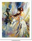 The Girl Playing A Violin Art Print Home Decor Wall Art Poster - C