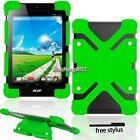 "New Shockproof Soft Silicone Stand Cover Case For 7"" 8"" Acer Iconia Tab + Stylus"