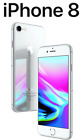 LlKE NEW  Apple iPhon&ecirc; 8 | Factory Unlocked | T-Mobile | AT&amp;T | 64GB / 256GB <br/> Free Tempered Glass | New Accessories | 60 Day Warranty