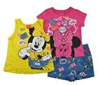 Внешний вид - Minnie Mouse Girls Pink & Multi Color 3pc Short Set Size 4 5 6 6X