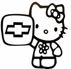 "HELLO KITTY CHEVROLET VINYL Decals Sticker 5"" X 5"" BUY 2 Sets GET 1 FREE"