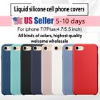 Imported Liquid Silica Gel Shell Silicone Cover Case For Apple iPhone 7 & 7 Plus