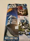 Boys Star Wars Clone War s 5 pack 100% Combed Cotton Briefs Size 6 8