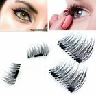 4Pcs/2 Pairs Beauty 3D Magnetic Natural Long Soft False Eye Eyelashes Handmade