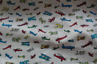 Bi- Plane Airplane pattern 100% cotton  Fabric material