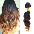 Brazilian Ombre Real Remy Virgin Loose Wave 3 tone Human Hair Extension Weave