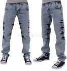 Peviani Mens Boys Charlsbury Star Ice Blue Jeans Hip G Hop Club Wear Time Money